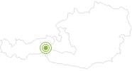 Radtour Tauernradweg - von Krimml nach Passau in Nationalpark Hohe Tauern: Position auf der Karte