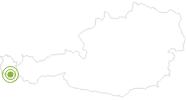 Radtour Die Vergalda Tour in Montafon: Position auf der Karte
