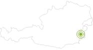 Radtour Berghäuser Radweg im Südburgenland: Position auf der Karte