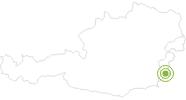 Radtour Burg Güssing Radweg im Südburgenland: Position auf der Karte