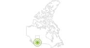 Radtour Prairie View Mountain Radweg in Süd-Alberta: Position auf der Karte