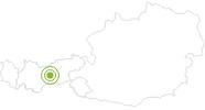 Bike Trail Short tour from Schönberg through the valley Stubai in Stubai: Position on map