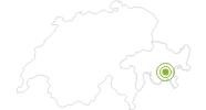 Radtour Val Suvretta in Engadin St. Moritz: Position auf der Karte