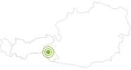 Radtour Von Hinterbichl durch das Dorfertal zur Johannishütte in Osttirol: Position auf der Karte