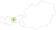 Radtour Mit dem Bike zur Höttinger Alm Innsbruck & seine Feriendörfer: Position auf der Karte