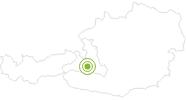 Radtour Kögerlalm im Gasteinertal: Position auf der Karte