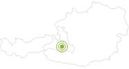 Radtour Hirschgrubenalm im Grossarltal: Position auf der Karte
