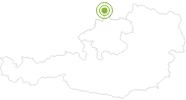 Radtour Schwemmkanal Radroute 51,8 km im Böhmerwald: Position auf der Karte