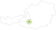 Radtour Murradweg: Von der Sticklerhütte bis Ramingstein am Lungau: Position auf der Karte