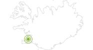 Radtour Route 1 - Hringvegur in Reykjavik: Position auf der Karte