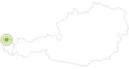 Radtour Von St. Anton zum Bodensee am Bodensee-Vorarlberg: Position auf der Karte