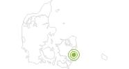 Radtour Panorama-Radroute: Rødvig - Store Heddinge - Stevns Klint auf West- und Süd-Seeland: Position auf der Karte