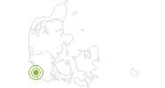 Radtour Panorama-Radroute Rømø in Südjütland: Position auf der Karte
