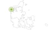 Radtour Panorama Radroute: Agger - Hurup - Bedsted in Westjütland: Position auf der Karte