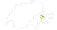Radtour Biketicket to RIDE (rot): Von Lenzerheide nach Chur in der Lenzerheide: Position auf der Karte