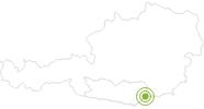 Radtour MTB 15 - Lorenzenberger Rundtour im Lavanttal: Position auf der Karte