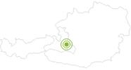 Bike Trail Filzmoos - Hofalmen road bike tour Salzburg's world of sport: Position on map
