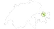 Radtour Durch die Zügenschlucht von Davos Wolfgang nach Wiesen in Davos Klosters: Position auf der Karte