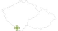 Radtour Radtour rund um den Moldaustausee (Lipno Stausee) im Nationalpark Böhmerwald: Position auf der Karte