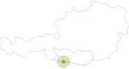 Radtour Lift & Bike Giro - Von der Tressdorfer Alm runter nach Gmanberg in Nassfeld-Pressegger See - Lesachtal - Weissensee: Position auf der Karte