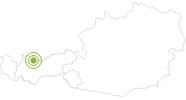 Bike Trail Trip around Mount Daniel in the Tyrolean Zugspitz Arena: Position on map