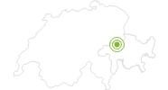 Radtour Familientour im Flimserwald in Flims Laax Falera: Position auf der Karte