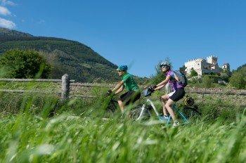 Radle vorbei an Burgen und Schlössern durch die herrliche Landschaft des Vinschgau!