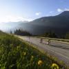 Anstieg auf den Arlberg Pass