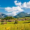 Aussicht auf die Biathlon-Hochburg Ruhpolding