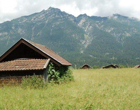 Typical barn in Garmisch