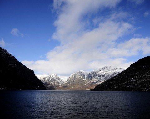 Der Sognefjord in Norwegen ist der längste und tiefste Fjord Europas