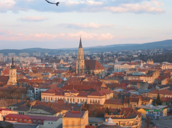 The rooftops of Cluj-Napoca