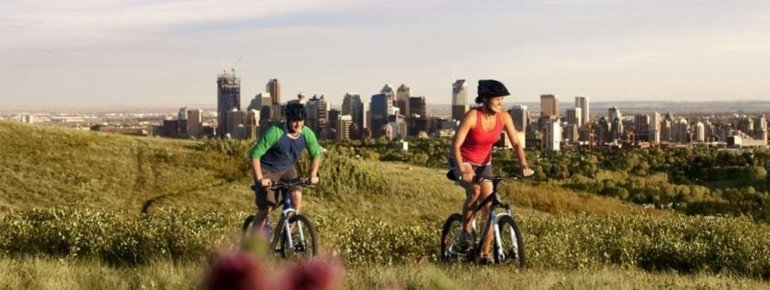 View onto Calgary