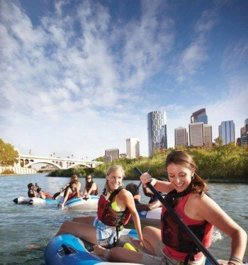 You can try many fun activites on the Bow River
