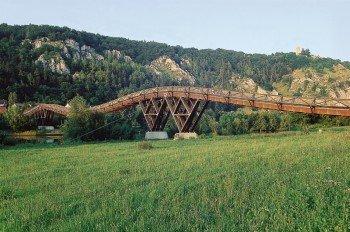 Die Holzbrücke Tatzelwurm