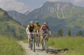 Bei einer Mountainbike-Tour durch das Tannheimer Tal kannst du herrliche Ausblicke genießen.