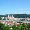 Ziel des Innradwegs ist die niederbayerische Stadt Passau, wo der Inn auf die beiden Flüsse Donau und Ilz trifft.