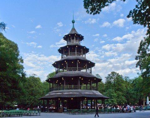 Biergarten am Chinesischen Turm im Englischen Garten München