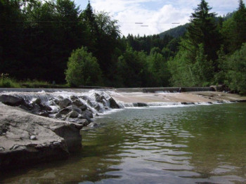 The swimming place at the Jachen