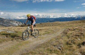 Immer im Blick: Die Bündner Alpen
