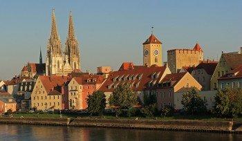 Blick auf den Dom St. Peter in Regensburg