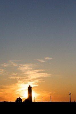 Der Leuchtturm bei Sonnenuntergang