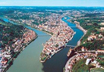 Blick auf die Dreiflüssestadt Passau, den Startpunkt der Strecke