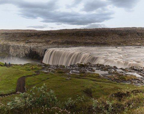 Der Dettifoss Wasserfall
