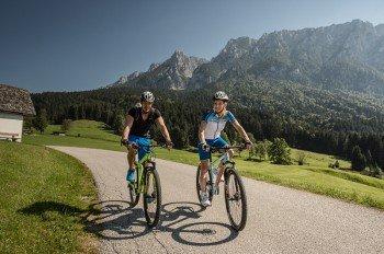 Radfahrer bei Kufstein