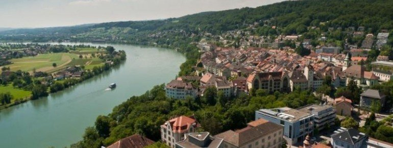 Waldshut and the river Rhein