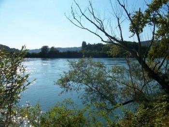 Rhein boardwalk near Waldshut