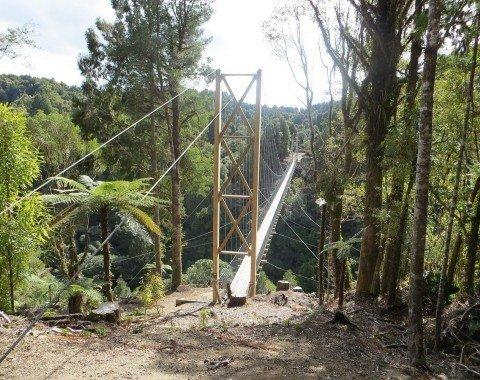 Die Maramataha Hängebrücke