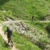 Von der Bergstation Rinderhütte geht es in Richtung Oberu und Bachalpe.