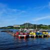 Eine gute Möglichkeit für einen Stopp während der Radtour ist der Bootsverleih Strasser.